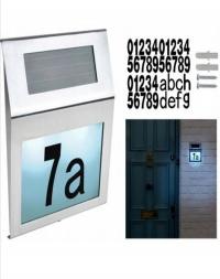 Podświetlany numerek domu solar