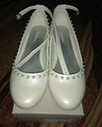 Buty ładne białe na bal, komunię 34