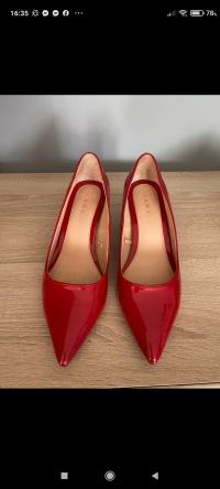 Buty Zaraz czerwone lakierowane