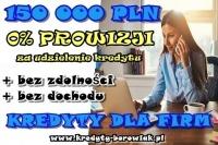KREDYTY DLA FIRM – NA STRACIE! 150 000 PLN ! PROWIZJA 0%
