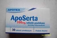 ApoSerta 100mg 90 tabletek -3 opakowania