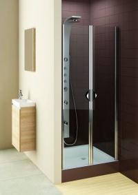 Drzwi Prysznicowe Wahadłowe Wnękowe 80cm Glass 5 Aquaform PL