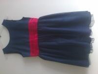 piękna sukienka  dla dziewczynki - trzywarstwowa / 140 cm
