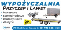 Wypożyczalnia Przyczep i Lawet CERUX 24h / 7 Mega Wybór !