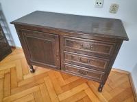 Komoda drewaniana szafka na kluczyk + 3 szuflady