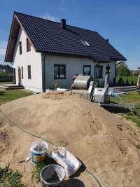 Tynki maszynowe cementowo-wapienne