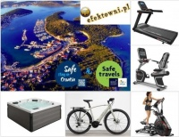 Sprzęt sportowy, meble i akcesoria ogrodowe, wycieczki jacht