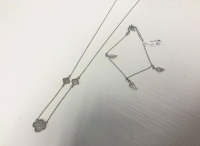 Srebrna bransoletka, łańcuszek 925