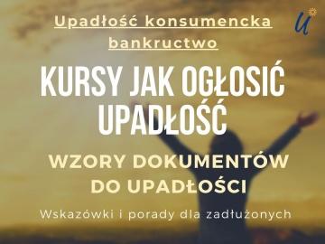 👉 Bankructwo konsumenckie - kursy dla zadłużonych + wzory ...