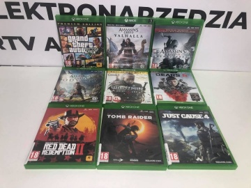 Gry na konsolę Xbox One Ceny widoczne na załączonym zdjęciu