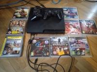 Playstation 3 slim 320 GB Pady Gry okablownaie