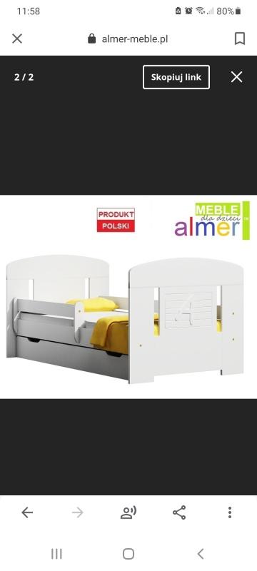 Łóżko jednoosobowe 90x200