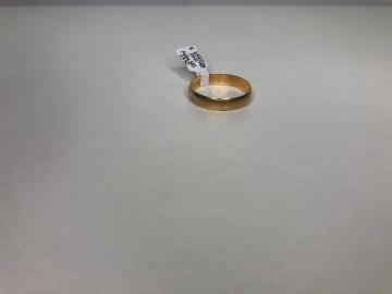 Złota obrączka próba 585/14K waga: 3,54g rozmiar 31