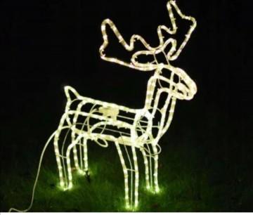 Ozdoba świąteczna renifer led