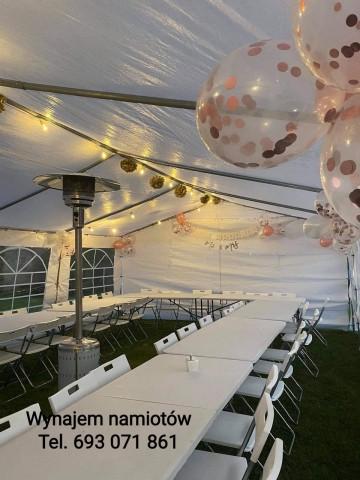 Weselna brama z balonów hel balony ledowe z helem namioty