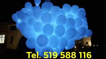 Balony z helem balony ledowe z helem pudło z balonami hel