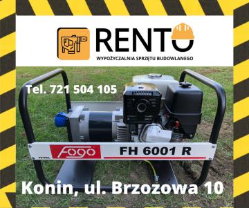 Wypożyczalnia Agregat Prądotwórczy - FOGO 6001R  Wynajem