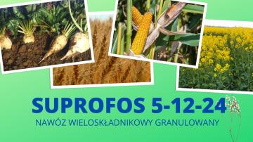 Suprofos 5-12-24 nawóz wieloskładnikowy granulowany
