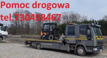 Transport maszyn budowlanych rolniczych samochodów