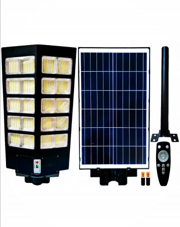 Lampa solarna 600w podwojna z panelem fotowoltaicznym