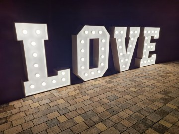 Napis LOVE - Dekoracja wesela, sesji foto Duży 120cm