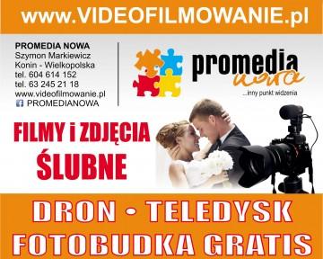 PROMEDIA NOWA Videofilmowanie.pl Foto ślubne Fotobudka Dron