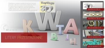 Litery 3D ozdobne dekoracyjne, reklamowe ze Styroduru XPS