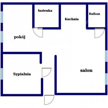 Mieszkanie Turek 66m2 po generalnym remoncie.