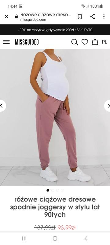 Sprzedam spodnie ciążowe rozmiar s