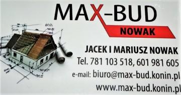 Firma MAX-BUD  ŚLESIN ZATRUDNI 781103518,601981605