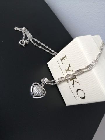 Naszyjnik / łańcuszek z serduszkiem srebrny