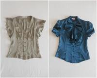 Firmowe eleganckie bluzki jak nowe.