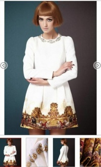 Sukienka barokowa rozmiar S