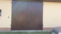 Wrota,drzwi garażowe skrzydłowe metalowe