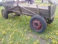 Wóż konny z zaczepem do traktora ciągnika