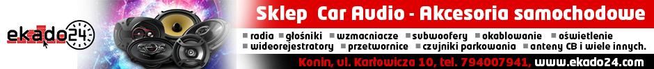 ekado24 car audio radia głośniki wzmacniacze subwoofery