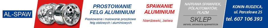 AL-SPAW prostowanie felg, spawanie aluminium